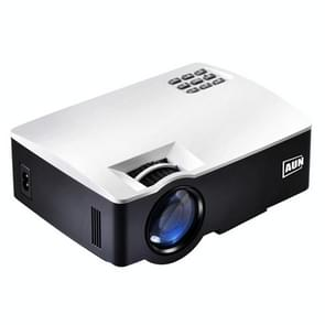 AUN AKEY1 1800 Lumens LED 800x480 Multimedia Video Projector Home Theater, USB / SD / VGA / AV / HDMI(White)