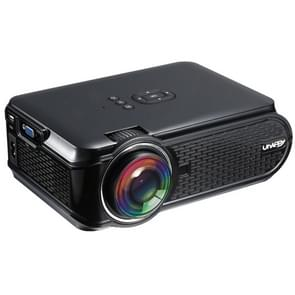 Uhappy U90 1500LM 800*480 Home Theater LED Projector with Remote Control , Support USB + VGA + SD + HDMI + AV + TV (Black)