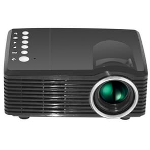 MG300 600 Lumens 1920x1080 Home Theater LED Projector with Remote Control, Support AV & USB & TF (Black)