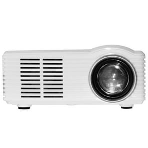MG300 600 Lumens 1920x1080 Home Theater LED Projector with Remote Control, Support AV & USB & TF (White)