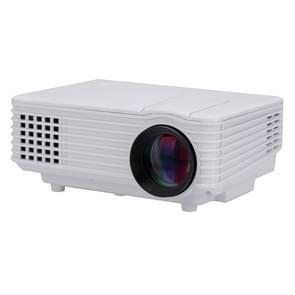 RD-805 800LM 800x480 Home Theater LED Projector with Remote Controller, Support HDMI, VGA, AV, USB Interfaces(White)