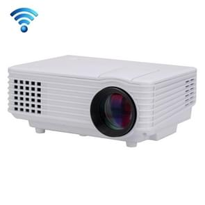 RD-805 Android WiFi LED Projector 800LM 800x480 Home Theater with Remote Controller, Support HDMI, VGA, AV, USB Interfaces(White)