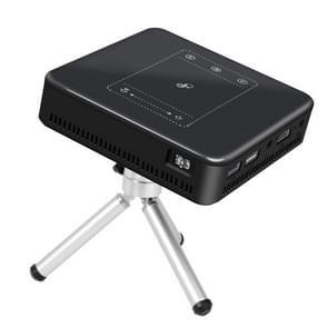 Weijoy DL-S10 120ANSI Lumens 854x480 Smart Mini Projector, RK3328 ARM Cortex-A53 Quad Core 1.5GHz CPU, 2GB+16GB, Android 7.1.2, blauwtooth, WiFi, HDMI(zwart)