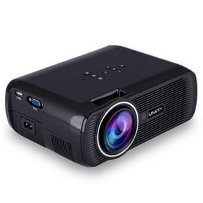UHAPPY U80 Plus LCD 1500 Lumens Home Theater HD 1080P Mini Projector, Android 6.0, Bluetooth V4.0, Wifi, Support HDMI / VGA / AV / USB(Black)