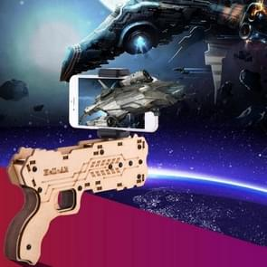 AR Shooting Game Bluetooth Wooden Toy Gun with Clip for iOS & Android Phones with 55-83mm Width, Size: L