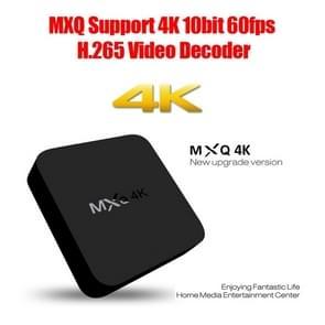 MXQ 4K Full HD Media Player RK3229 Quad Core KODI Android 4.4 TV Box met Remote Control, RAM: 1GB, ROM: 8GB, Support HDMI, WiFi, Miracast, DLNA(zwart)