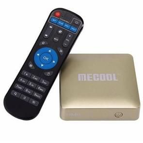 MECOOL HM8 4K UHD Smart TV Box with Remote Controller, Android 6.0 Amlogic S905X Quad Core Cortex-A53 up to 2.0GHz, RAM: 1GB, ROM: 8GB, OTA, WiFi(Gold)