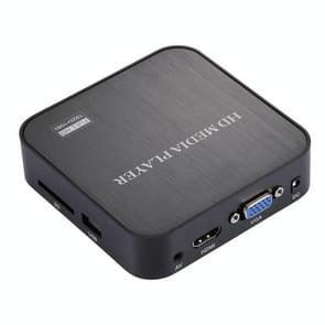 1080P HD Media Player with Remote Controller, Support HDD / SD Card / MMC / Flash Drive / HDMI Output(Black)