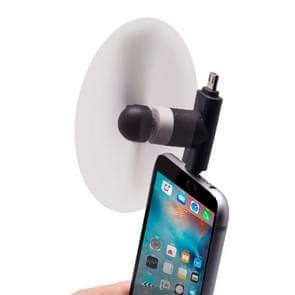 Fashion 8pin & Micro USB Ports Mini Fan with Two Leaves, For Mobile Phone with OTG Function & 8pin & Micro USB Ports(Black)