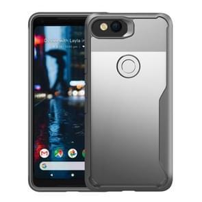 For Google Pixel 2 Transparent PC + TPU Full Coverage Shockproof Protective Back Case(Grey)