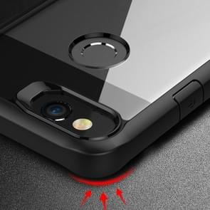For Google Pixel 2 Transparent PC + TPU Full Coverage Shockproof Protective Back Case(Red)