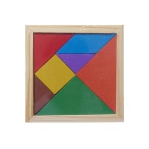 Baby Toy Fine houten Jigsaw Puzzle Small Size Tangram, Afmeting: 11*11cm