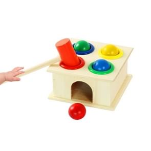 Baby Early Education Intellectual Toy Percussion Knocking Table, Afmeting: 12*12*10cm