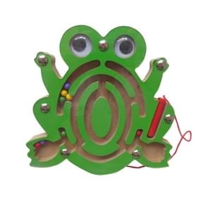 Children Puzzle Toy houten Magnetic Small Size Frog patroon Animal Maze