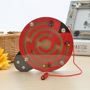 Children Puzzle Toy houten Magnetic Small Size Ladybug patroon Animal Maze