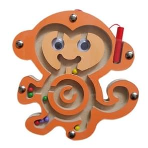 Children Puzzle Toy houten Magnetic Small Size Monkey patroon Animal Maze