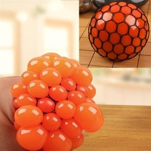 Anti Stress Face Reliever Grape Ball Extrusion Mood Squeeze Relief Healthy Funny Tricky Vent Toy(Orange)