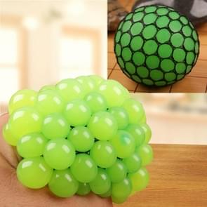 Anti Stress Face Reliever Grape Ball Extrusion Mood Squeeze Relief Healthy Funny Tricky Vent Toy(Green)