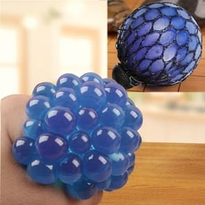 Anti Stress Face Reliever Grape Ball Extrusion Mood Squeeze Relief Healthy Funny Tricky Vent Toy(Blue)