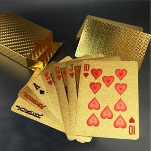 Creative Frosted Golden Tattice Back Texture Plastic From Vegas to Macau Playing Cards Texas Poker
