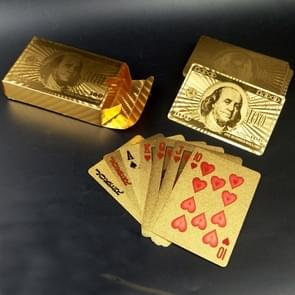 Creative Frosted Golden Dollar Back Texture Plastic From Vegas to Macau Playing Cards Texas Poker