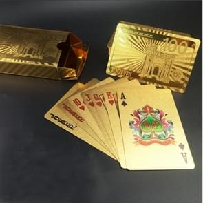 Creative Frosted Golden 100 Euro Back Texture Plastic From Vegas to Macau Playing Cards Texas Poker