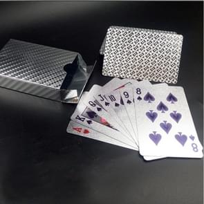Creative Frosted Silver Tattice Back Texture Plastic From Vegas to Macau Playing Cards Texas Poker
