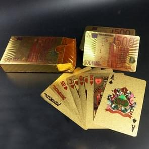 Creative Frosted Mosaic Gold Euro Back Texture Plastic From Vegas to Macau Playing Cards Texas Poker