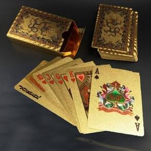 Creative Frosted Golden Dragon Amass Fortunes Back Texture Plastic From Vegas to Macau Playing Cards Texas Poker