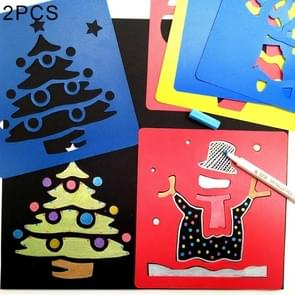 2 Sets (6 PCS / Set ) Children Plastic Painting Drawing Template Stencil Kids Toy, Random Style Delivery
