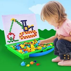 296 in 1 / Set Early Childhood Educational Creative DIY Desktop Mushroom Nail Puzzle Game Toy