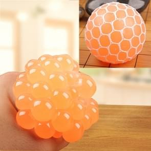 6cm Anti-Stress Face Reliever Grape Ball Extrusion Mood Squeeze Relief Healthy Funny Tricky Vent Toy(Orange)
