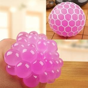 6cm Anti-Stress Face Reliever Grape Ball Extrusion Mood Squeeze Relief Healthy Funny Tricky Vent Toy(Magenta)