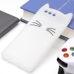 Huawei P10 Plus siliconen Cat Whiskers patroon beschermings Back Cover hoesje wit