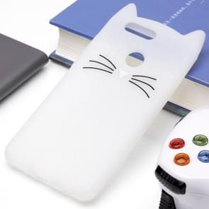 Huawei nova 2 Plus siliconen Cat Whiskers patroon beschermings Back Cover hoesjewit