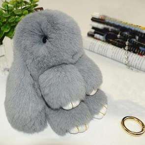 Lovely Dead Rex Rabbit Doll Pendant for Bag / Key Chains / Car ,Size: 15.0 x 14.0 x 8.0cm(Grey)