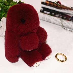 Lovely Dead Rex Rabbit Doll Pendant for Bag / Key Chains / Car ,Size: 15.0 x 14.0 x 8.0cm(Wind Red)
