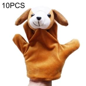 10 PCS Story Telling Kids Puppets Cute Zoo Farm Animal Glove Puppet Plush Toy Hand Dolls, Random Kleur Delivery