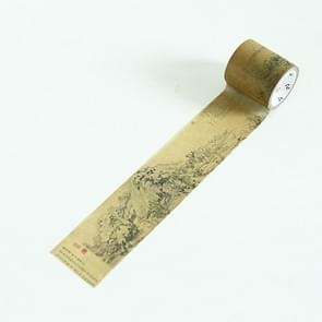 Creative Antique Series Dwelling in The Fuchun Mountains DIY Notebook Decorative Hand Tearing Tape Washi Tape School Office Stationery, Size:7m*4cm