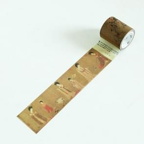 Creative Antique Series Tang Palace Figure DIY Notebook Decorative Hand Tearing Tape Washi Tape School Office Stationery, Size:7m*4cm