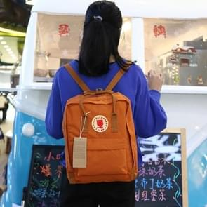 Outdoor Casual Academic Style Student School Canvas Backpack, Size: 20L(Orange)