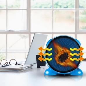 500W Mini draagbare Desktop Handy Air Heater Warm Fan Blower Heater Radiator Warmer voor Dormitory, Office, Home, AC 220V, EU stekker(blauw)