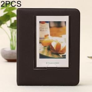 2 PCS DIY Creativity Insert Type Pinkycolor 64 Pages Exquisite Photo Album(Coffee)