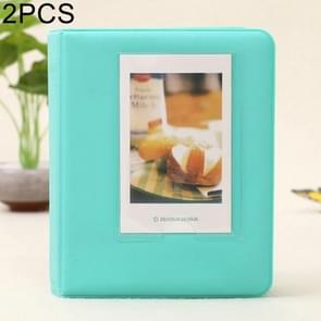 2 PCS DIY Creativity Insert Type Pinkycolor 64 Pages Exquisite Photo Album(Mint Green)