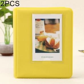 2 PCS DIY Creativity Insert Type Pinkycolor 64 Pages Exquisite Photo Album(Yellow)