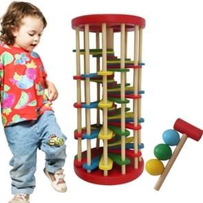 Children Toys Infant Educational Toys houten Toys Kleur Knock Ball Off the Ladder Tables Toys Intelligence Development