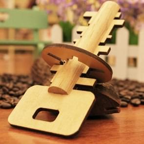 verwijderbaar houten Puzzle Education Toys voor Children Intelligence Toy Lock Unlock Key