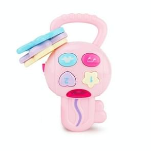 Brettbble Cartoon Baby Child Early Education Key Style Music Toys with LED Light(Pink)