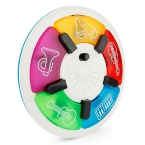 Brettbble Cartoon Baby Child Early Education Beat Disc Music Toys with LED Light (White)