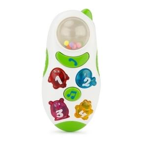 Brettbble Cartoon Baby Child Early Education Mobile Phone Style Music Toys with LED Light (White)